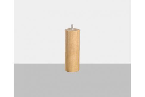 Jeu de 4 pieds H17 Epeda cylindrique bois vernis clair