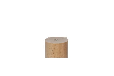 Jeu de 4 pieds carrés bois Ø 7 cm H20cm Margot décor alu